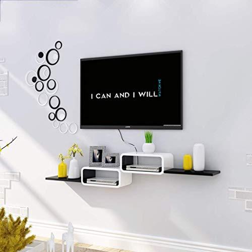 Jsmhh Mural Meuble TV Plateau Unité de Stockage étagère DVD/Blu-Ray Satellite TV Cable Box White Box Cadre Flottant Support Mural étagère (Color : C)