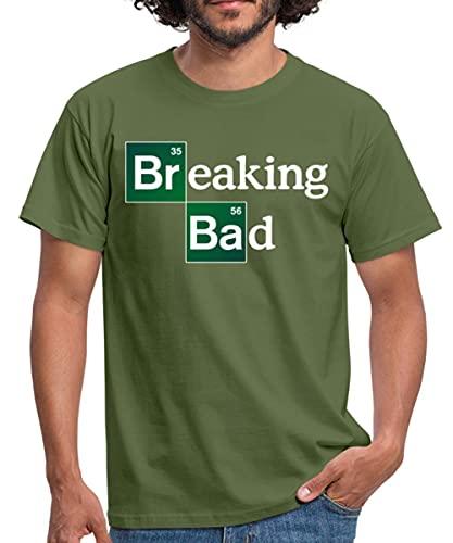 Spreadshirt Breaking Bad Logo Brom & Barium Männer T-Shirt, M, Militärgrün