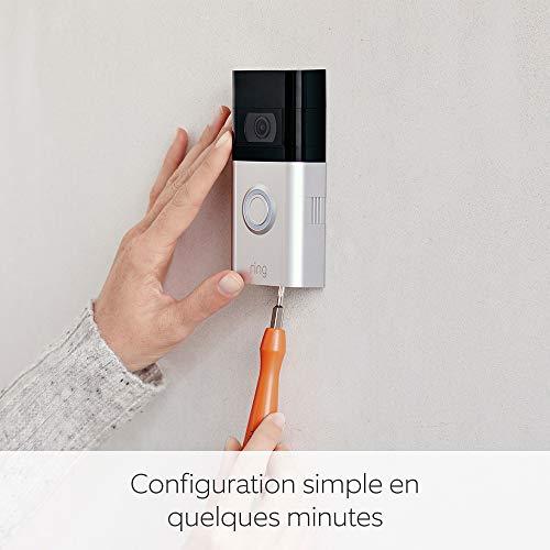 Ring Video Doorbell 3 | Vidéo HD, détection de mouvements personnalisable et installation facile | Essai gratuit de 30 jours à l'abonnement Ring Protect inclus