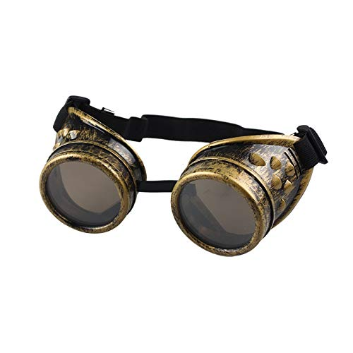 CHENTAOCS Motorfiets Driver goggles Vintage Style Steampunk Goggles Lassen Punk Bril Cosplay Zwart Rood Geel
