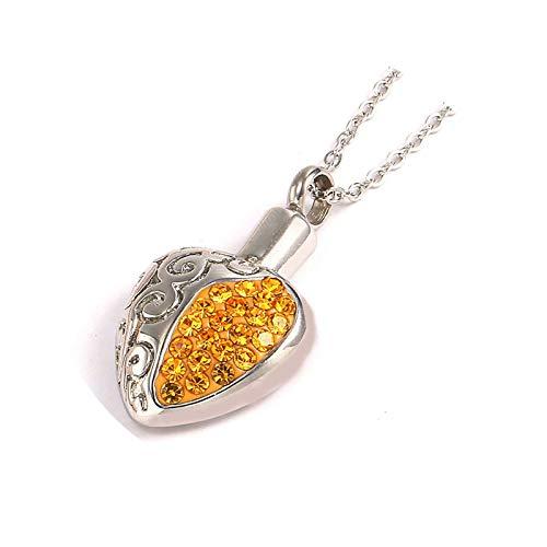 Aeici Colgante Urna Mujer Collares Hombre Inoxidable Corazón Circonita Colgante Collar Plata Oro