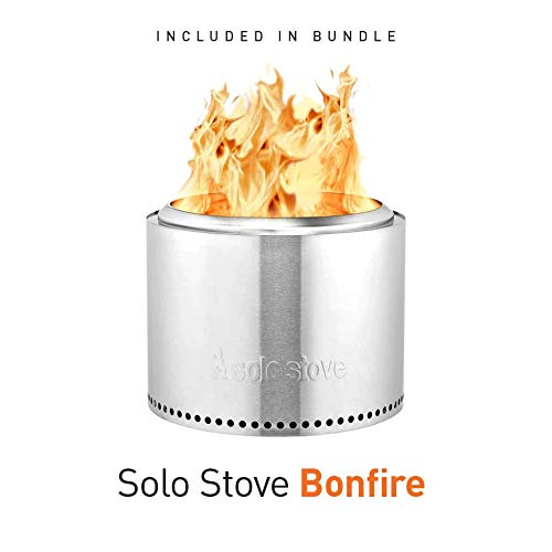 Product Image 2: Solo Stove Bonfire Backyard Bundle Includes Bonfire Fire Pit with Stand, Bonfire Shield, Carry Case, and Waterproof Shelter