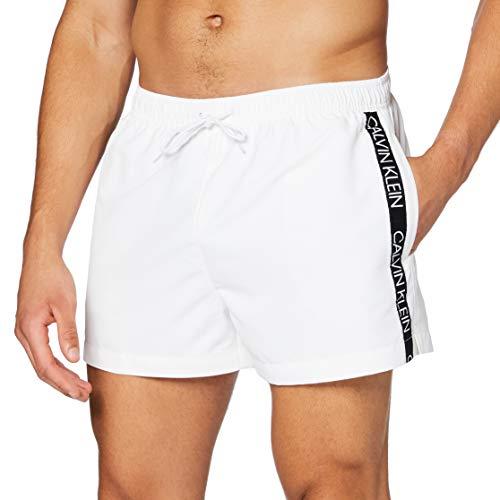 Calvin Klein Short Drawstring Bañador, Blanco (PVH Classic White 9716280 YCD), L para Hombre