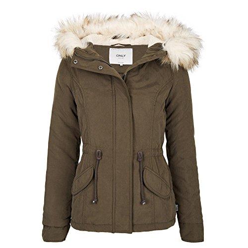 ONLY Damen Onlnew Lucca Short Jacket OTW NOOS Parka, Grün (Black Olive), 38 (Herstellergröße: M)