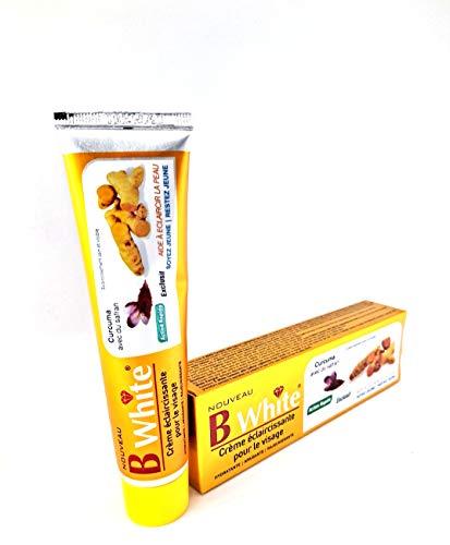 Crème éclaircissante soin visage - B WHITE Curcuma avec Safran - 50 g - Anti Tache - Lightening Face Cream - Turmeric with Saffron