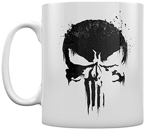 Marvel Comics The Punisher Skull Kaffeetassen, Keramik, Mehrfarbig, 7.9 x 11 x 9.3 cm