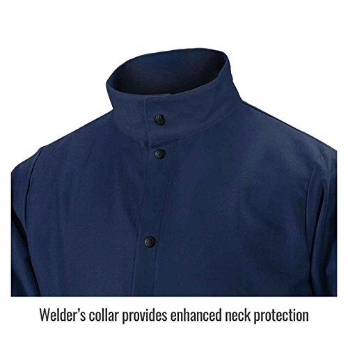 Product Image 3: Black Stallion FN9-30C 30″ 9oz. Navy FR Cotton Welding Jacket, Large