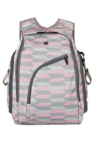 (エコスシ)Ecosusi マザーズバッグ リュック キャンバスバッグ 軽量 大容量 多機能 ピンク 22L