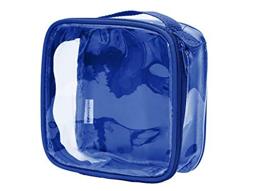 tsa toiletry bags Clear TSA Approved 3-1-1 Travel Toiletry Bag/Transparent See Through Organizer (Royal Blue)