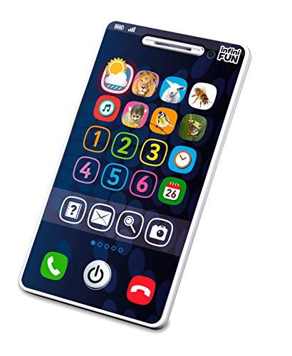Kurio DES12550 Tech-Too Mijn eerste smartphone, kindertelefoon met 4 speelmogelijkheden, cijfers 1-6 en geluid, witte speeltelefoon voor baby's en peuters vanaf 12 maanden