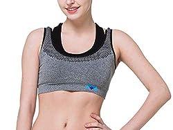 ayushicreationa Womens Cotton Sports Padded Bra (Grey, Free Size)