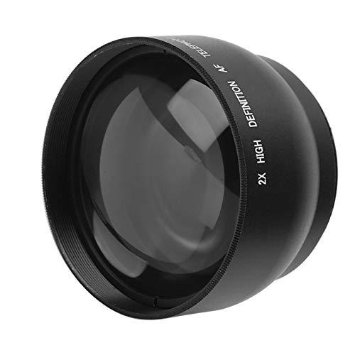 Sxhlseller Cámara Lente Adicional de Aumento 2X de 52 mm para Todas Las Lentes de Cámara de 52 mm de Diámetro