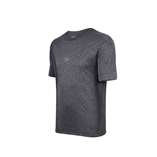 Speedo Blend Camiseta de Manga Curta, Homens, Preto, M