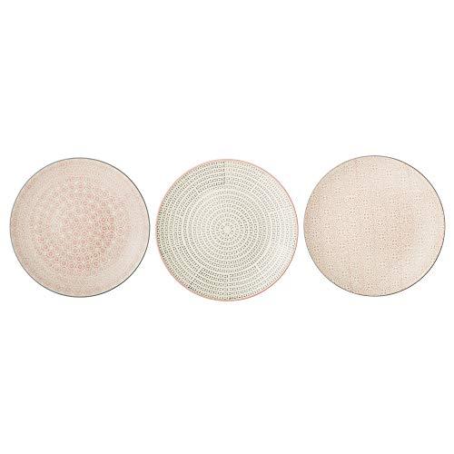 Bloomingville Teller Cécile, rosa grau, Keramik, 3er Set