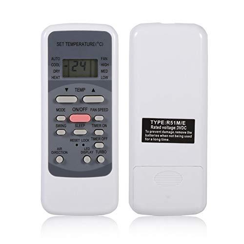 Calvas R51M/E Universal-Klimagerät Fernbedienung für Media Klimaanlage Controller Klimaanlage Ersatz, CLS-832D5B4EE45F74C7B7F4E06822EB7CC0, 1Stück