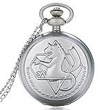 YHWW Reloj de bolsill oVintage Fullmetal Alchemist Quartz Pocket Watch Collar Moda Hombres Mujeres Relojes Reloj Anime Niños Niñas Niños Regalos Reloj, 4