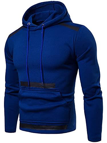 Sudaderas con capucha para hombre con bolsillo de canguro y manga larga con cordón ligero Jumper Chaquetas