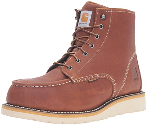 Carhartt Men's 6 Inch Waterproof Wedge Steel Toe Work Boot, Tan, 8.5