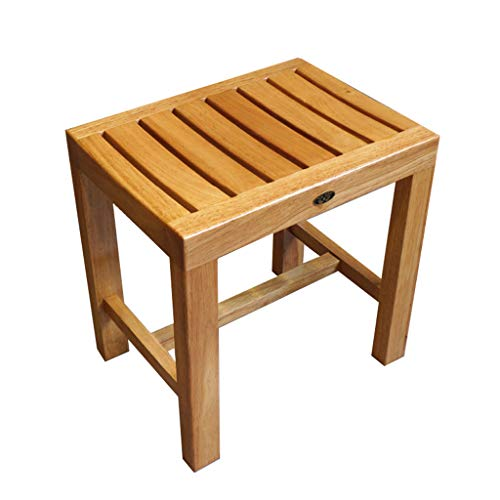 Best Bargain Bath Stool Bathroom Stool Wooden Stool Rubber Wood Bench Dressing Stool Square Dining S...