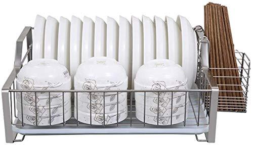 WSJ Abtropfgestell Abtropfgestell Küchenregale Schrank Haushaltsgeschirr Abtropfgestell Waschfilter Aufsetzen Geschirr Aufbewahrungsbox Ablage (Farbe: B)