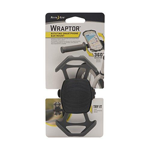Nite Ize Wraptor, Rotating Smartphone Bar Mount, Charcoal, Gray, One Size
