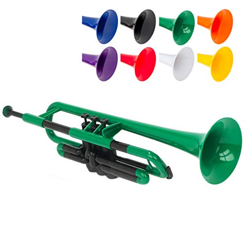 pInstrument pTrumpet Plastic Trumpet - Mouthpieces and Carrying Bag - Lightweight...