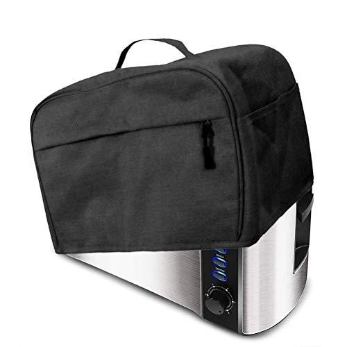 Dan&Dre Funda impermeable para tostadora con bolsillos, protección contra el polvo y...
