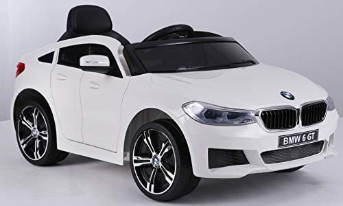 RIRICAR Elektrisches Auto für Kinder, BMW 6GT, Weiß, mit 2,4-GHz Fernbedienung, 1 Sitzer, 36 Monate - 5 Jahre, Batterie 2X 6V / 4 Ah