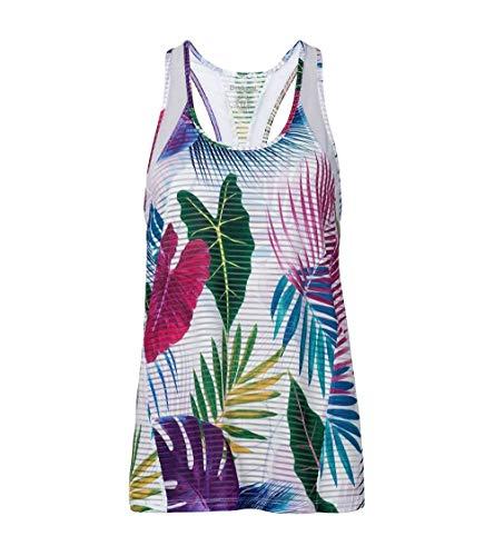 Desigual T-Shirt rayé Bio Patching pour Femme XL Blanc