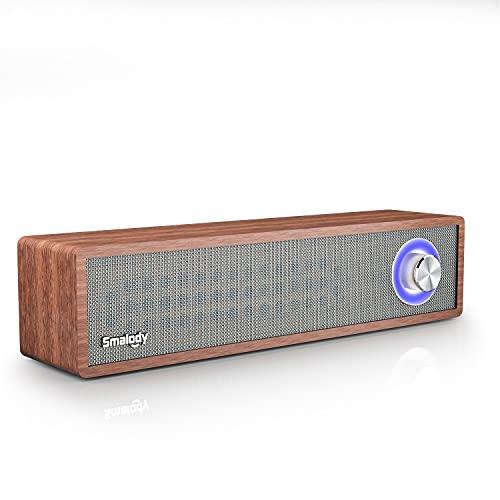 Enceinte Bluetooth Portable, Smalody Haut Parleur sans Fil, Bluetooth 4.2 Subwoofer, Extérieur, Enceinte stéréo avec Audio HD et Basses Amélioré, Intégré Double Pilote Haut-Parleur, TF/USB AUX
