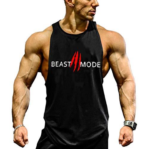 Befox Débardeur Homme T-Shirt sans Manche Maillot de Corps Tank Top Musculation Sport Fitness Gym Jogging