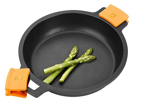 BRA Efficient Cacerola baja antiadherente sin tapa, apta para todo tipo de cocinas e inducción, 28 cm, A270628