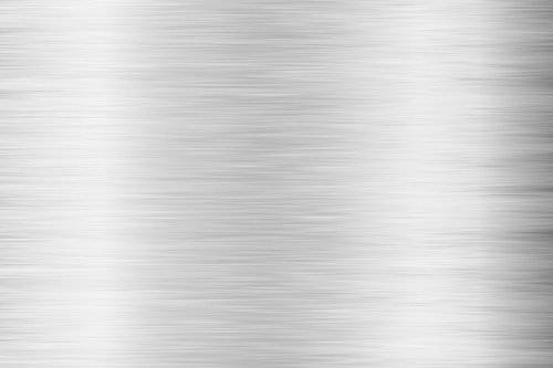 Premium Möbelfolie und Bastelfolie - Silber gebürstet - 0.5 x 0.63 Meter - Küchenfolie - Klebefolie zum Basteln, für Möbel, Türen selbstklebende Folie Küche