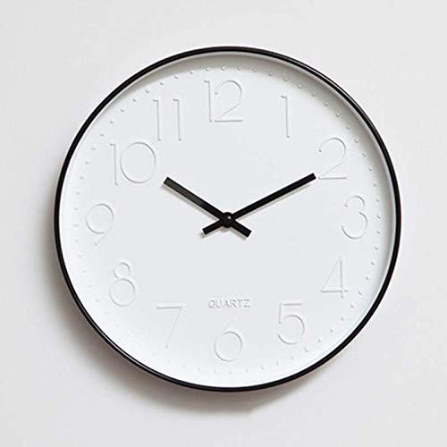 JINSE minimalistische moderne stijl creatieve eenvoudige Europese Scandinavische Europese stijl wandklok mute-cirkel woonkamer slaapkamer klok een generatie Large zwart