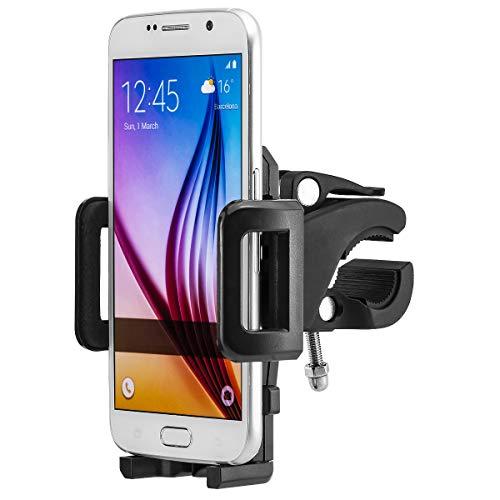 Fahrrad Bike Handy Halterung Halter Handyhalterung Handyhalter Fahrradhalterung Fahrradhalter kompatibel mit iPhone SE, 5, 5S, 6, 6S, 7, 7 Plus / Galaxy S5, S6, S7, S7 Edge, Note 4, Note 5, Note Edge / Huawei P8, P9, Lite, Plus / Sony Xperia Z3, Z5, Premium, Compact, XZ, X / HTC M8, M9, M10 und andere Handy, Smartphone, Phablet