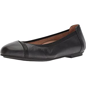 Vionic Women's Spark Caroll Ballet Flat - Ladies Dress Casual Shoes with Concealed Orthotic Arch Support Black 7 Medium US