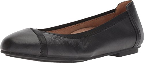 Vionic Women's Spark Caroll Ballet Flat - Ladies Dress Casual Shoes with Concealed Orthotic Arch Support Black 8.5 Medium US