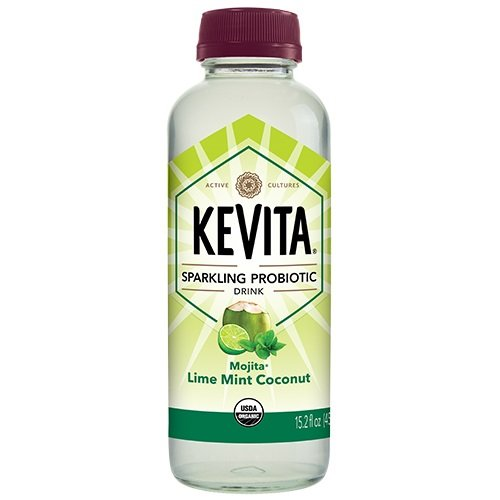 KEVITA Mojita Lime Mint Coconut Sparkling Probiotic, 15.2 Fl Oz (Pack of 6)
