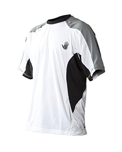 Body Glove Men's Performance Loose Fit Short Sleeve Shirt, White, Large