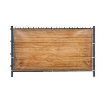 (Mesh) Holzwand Z4 Zaunbanner, Sichtschutz, Windschutz, Zaunblende, Garten, 250 x 182 cm, DRUCKUNDSO