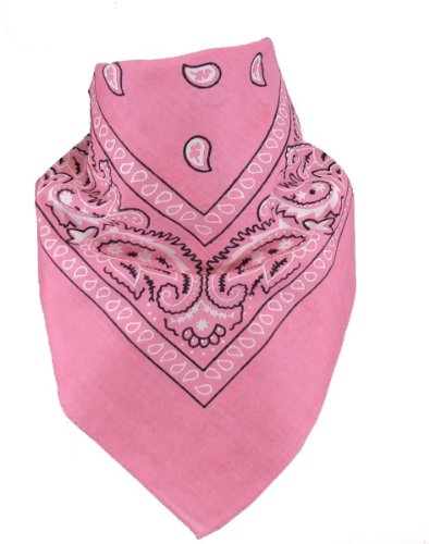 Harrys-Collection Harrys-Collection Unisex Bandana Bindetuch 100% Baumwolle (1 er 6 er oder 12 er Pack), Farbe:rosa
