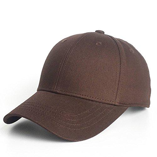 KeepSa Baumwolle Baseball Cap, Basecap Unisex Baseball Kappen, Baseball Mützen für Draussen, Sport oder auf Reisen - Reine Farbe Baseboard Baseballkappe Kappe, Mütze (Kaffee)