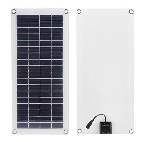 DAUERHAFT Cargador de Panel de celda Solar USB Panel de Cargador Solar de Salida Dual portátil 10W para Todos los pequeños electrodomésticos para Carga de batería de Barco