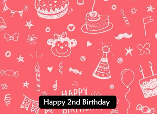 Happy 2nd Birthday Guest Book for boys and girls.: 2nd Birthday Guest Book. Large Book Plenty Of Room To Send Birthday Wishes.