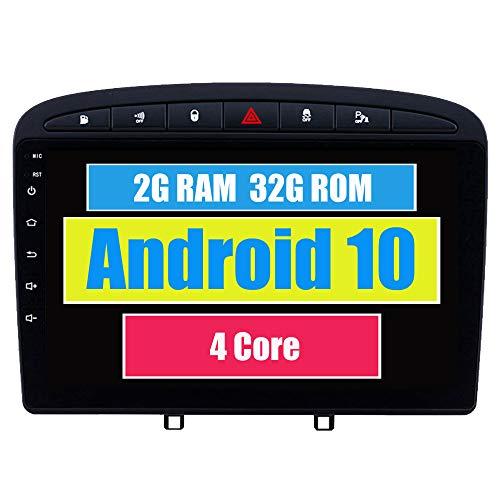 RoverOne Radio del Coche para Peugeot 408 para Peugeot 308 308SW 2010-2016 con Android Navegación GPS Pantalla Táctil Estéreo Multimedia Bluetooth WiFi USB Mirror Link