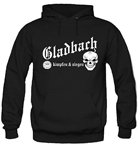 Gladbach kämpfen & Siegen Kapuzenpullover | BMG | Fussball | Ultras | M1 (XL)