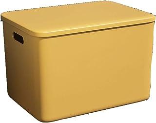 LCM Boîte de Rangement de Style Nordique boîte de Rangement en Plastique avec Couvercle de Bureau Sundries Snacks Stockage...