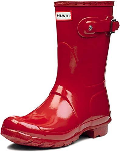 Mujer Hunter Original Short Gloss Invierno Lluvia Botas De Goma Botas - Rojo Militar - 38