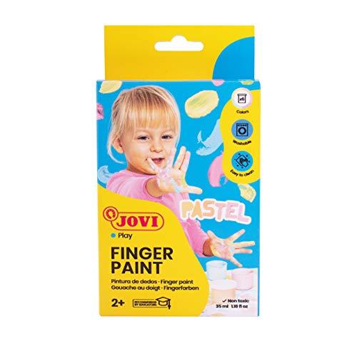 Jovi - Pintura Dedos, Estuche 6 botes, 35 mililitros, colores pastel (540P)