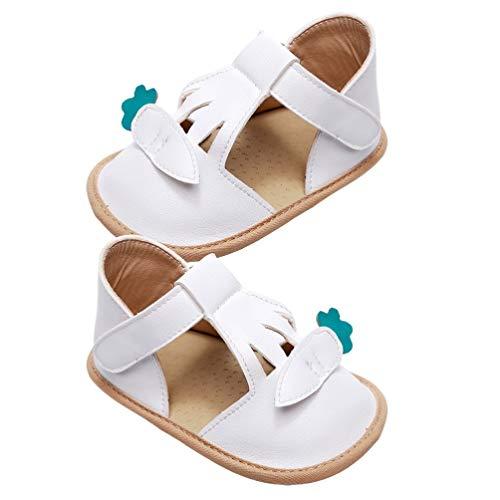Holibanna Zapatos de Bebé Niña de Dibujos Animados Bebé Niño Pequeño Suela Blanda Prewalker Primer Andador Zapatos de Cuna Mocasines de Bebé 4. 5Us Blanco